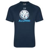 Under Armour Navy Tech Tee-Alumni with Athletic Mark
