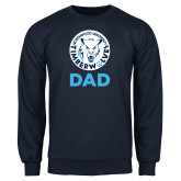Navy Fleece Crew-Dad with Athletic Mark