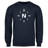 Navy Fleece Crew-North Compass