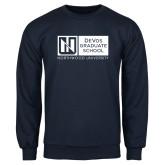 Navy Fleece Crew-DeVos Graduate School