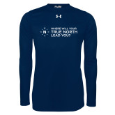 Under Armour Navy Long Sleeve Tech Tee-Where Will Your True North Lead You