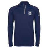 Under Armour Navy Tech 1/4 Zip Performance Shirt-Institutional Mark Vertical