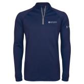 Under Armour Navy Tech 1/4 Zip Performance Shirt-Institutional Mark Horizontal