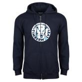 Navy Fleece Full Zip Hoodie-Primary Athletic Mark