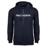 Navy Fleece Full Zip Hoodie-True North