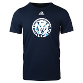 Adidas Navy Logo T Shirt-Primary Athletic Mark