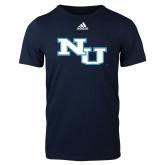 Adidas Navy Logo T Shirt-NU Athletic Mark