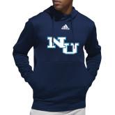 Adidas Navy Team Issue Hoodie-NU Athletic Mark