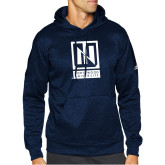 Adidas Navy Team Issue Hoodie-Institutional Mark Vertical