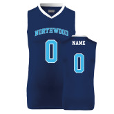 Replica Navy Adult Basketball Jersey-Northwood Arched