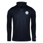 Russell Navy Heather 1/4 Zip-Primary Athletic Mark