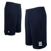 Russell Performance Navy 10 Inch Short w/Pockets-Institutional Mark Vertical