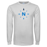 White Long Sleeve T Shirt-North Compass