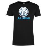 Ladies Black T Shirt-Alumni with Athletic Mark