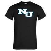 Black T Shirt-NU Athletic Mark