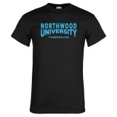 Black T Shirt-Northwood University Arched over Timberwolves
