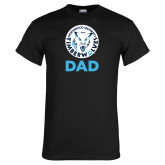 Black T Shirt-Dad with Athletic Mark