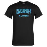 Black T Shirt-Alumni with Northwood University Arched