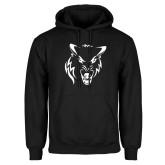 Black Fleece Hoodie-Timberwolf Head