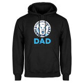 Black Fleece Hoodie-Dad with Athletic Mark