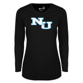 Ladies Syntrel Performance Black Longsleeve Shirt-NU Athletic Mark