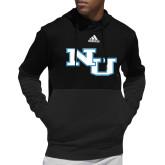 Adidas Black Team Issue Hoodie-NU Athletic Mark