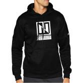 Adidas Black Team Issue Hoodie-Institutional Mark Vertical