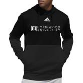 Adidas Black Team Issue Hoodie-Institutional Mark Horizontal