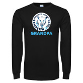 Black Long Sleeve T Shirt-Grandpa with Athletic Mark