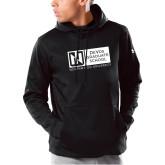 Under Armour Black Armour Fleece Hoodie-DeVos Graduate School