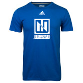 Adidas Climalite Royal Ultimate Performance Tee-Institutional Mark Vertical