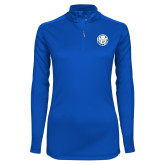 Ladies Syntrel Interlock Royal 1/4 Zip-Primary Athletic Mark