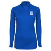 Ladies Syntrel Interlock Royal 1/4 Zip-Institutional Mark Vertical