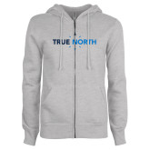 ENZA Ladies Grey Fleece Full Zip Hoodie-True North