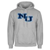 Grey Fleece Hoodie-NU Athletic Mark