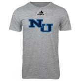 Adidas Sport Grey Logo T Shirt-NU Athletic Mark