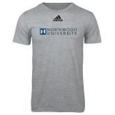 Adidas Sport Grey Logo T Shirt-Institutional Mark Horizontal