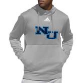 Adidas Grey Team Issue Hoodie-NU Athletic Mark