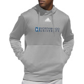 Adidas Grey Team Issue Hoodie-Institutional Mark Horizontal