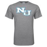 Grey T Shirt-NU Athletic Mark