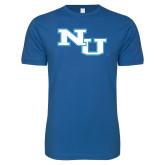 Next Level SoftStyle Royal T Shirt-NU Athletic Mark