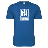 Next Level SoftStyle Royal T Shirt-Institutional Mark Vertical
