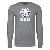 Grey Long Sleeve T Shirt-Dad with Athletic Mark