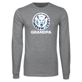 Grey Long Sleeve T Shirt-Grandpa with Athletic Mark