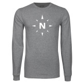 Grey Long Sleeve T Shirt-North Compass