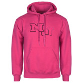 Fuchsia Fleece Hoodie-NU Athletic Mark Foil