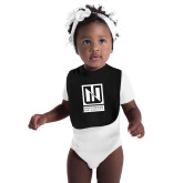 Black Baby Bib-Institutional Mark Vertical