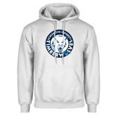 White Fleece Hoodie-Primary Athletic Mark