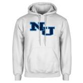 White Fleece Hoodie-NU Athletic Mark