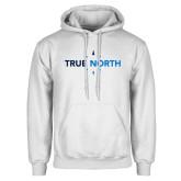 White Fleece Hoodie-True North